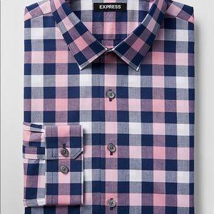 EXPRESS XLT DRESS SHIRT - BLUE/PINK PLAID